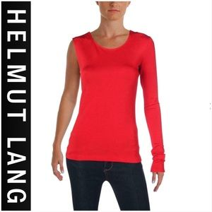NWT $240 Helmut Lang One Sleeve Top Med